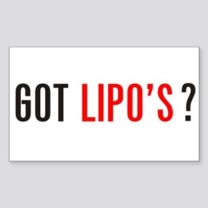 Got Lipo's ? Sticker (Rectangle)
