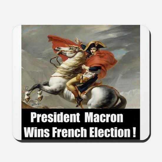 President Macron Wins French Election Mousepad