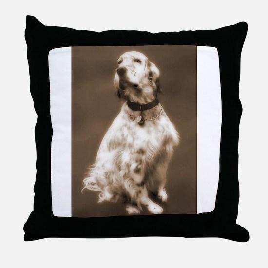 English Setter Dog Gift Idea Throw Pillow