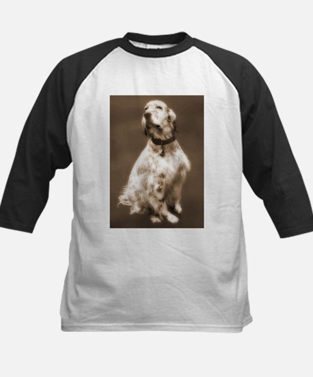 English Setter Dog Gift Idea Kids Baseball Jersey