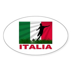 Italian soccer Sticker (Oval)