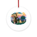 St Francis #2/ Shar Pei (#2) Ornament (Round)
