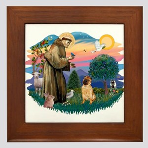 St Francis #2/ Shar Pei (#2) Framed Tile