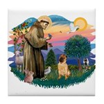 St Francis #2/ Shar Pei (#2) Tile Coaster