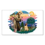 St Francis #2/ Shar Pei (#2) Sticker (Rectangle)