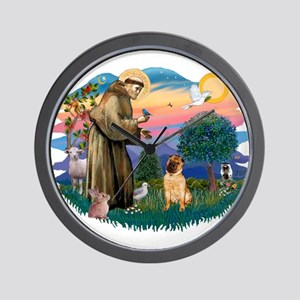 St Francis #2/ Shar Pei (#2) Wall Clock