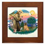 St Francis #2/ Shar Pei (#3) Framed Tile