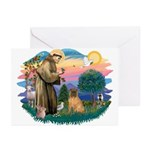 St Francis #2/ Shar Pei (#3) Greeting Cards (Pk of