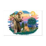 St Francis #2/ Shar Pei (#3) Mini Poster Print