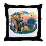 St Francis #2/ Shar Pei (#3) Throw Pillow