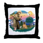 St Francis #2/ Shar Pei (#3) Throw Pillow