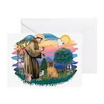 St Francis #2/ Shar Pei (#3) Greeting Card