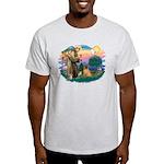 St Francis #2/ Shar Pei (#3) Light T-Shirt