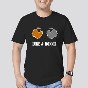 Luke and Ronnie Men's Fitted T-Shirt (dark)
