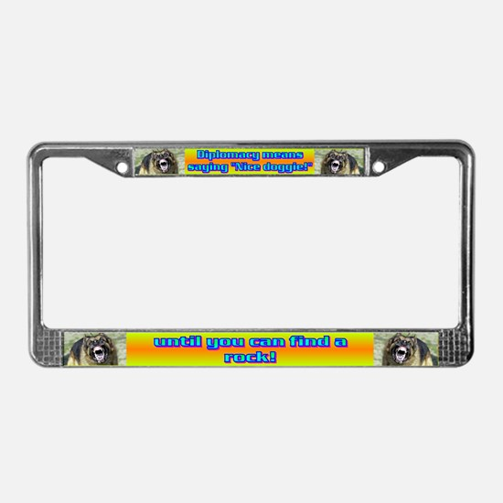 Diplomacy means License Plate Frame