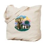 St Francis 2F - Two Shelties Tote Bag