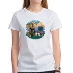 St Francis 2F - Two Shelties Women's T-Shirt