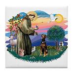 St Francis #2/ Doberman Tile Coaster