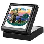 St Francis #2/ Doberman Keepsake Box