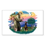 St Francis #2/ Doberman Sticker (Rectangle)