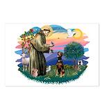 St Francis #2/ Doberman Postcards (Package of 8)