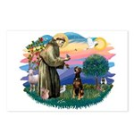 St Francis #2/ Doberman Postcards (Package of 8)