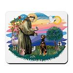 St Francis #2/ Doberman Mousepad