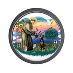 St Francis #2/ Doberman Wall Clock
