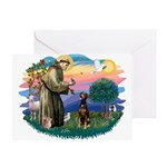 St Francis #2/ Doberman Greeting Card