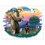 St Francis #2/ Doberman Small Poster
