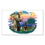 St Francis #2/ Doberman Sticker (Rectangle 10 pk)