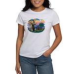 St Francis #2/ Doberman Women's T-Shirt