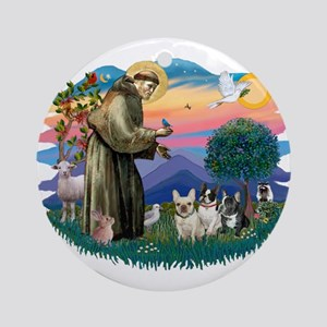St Francis #2/ Fr Bulldogs (3) Ornament (Round)