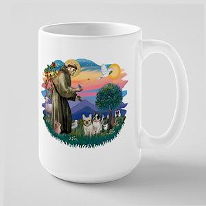 St Francis #2/ Fr Bulldogs (3) Large Mug