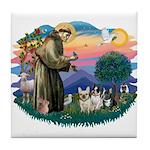 St Francis #2/ Fr Bulldogs (3) Tile Coaster