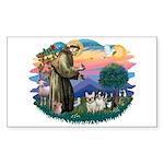 St Francis #2/ Fr Bulldogs (3) Sticker (Rectangle)