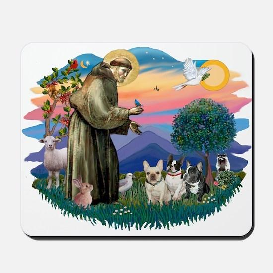 St Francis #2/ Fr Bulldogs (3) Mousepad