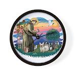 St Francis #2/ Fr Bulldogs (3) Wall Clock
