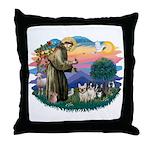 St Francis #2/ Fr Bulldogs (3) Throw Pillow
