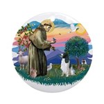 St Francis #2/ Eng Spring Ornament (Round)