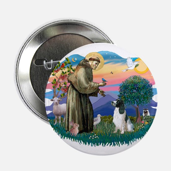 """St Francis #2/ Eng Spring 2.25"""" Button"""