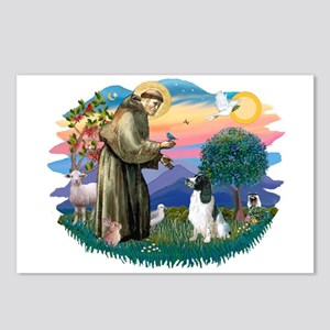 St Francis #2/ Eng Spring Postcards (Package of 8)