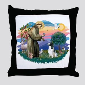 St Francis #2/ Eng Spring Throw Pillow