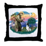 St Francis #2/ Eng Spring Throw Pillow