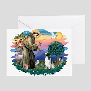 St Francis #2/ Eng Spring Greeting Card