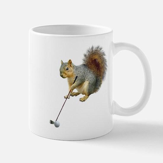 Golfing Squirrel Father's Day Mug
