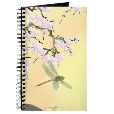 Cherry Blossoms and Dragonflies Journal