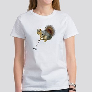 Golfing Squirrel Women's T-Shirt