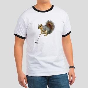 Golfing Squirrel Ringer T