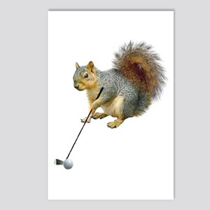 Golfing Squirrel Postcards (Package of 8)